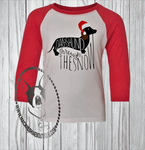 Dachshund Through the Snow Custom Shirt for Kids, 3/4 Sleeve