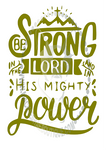Be Strong in the Lord Custom Decal