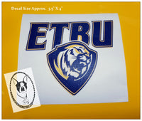 ETBU Custom Decal