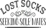 Lost Socks Seeking Sole Mates Custom Decal