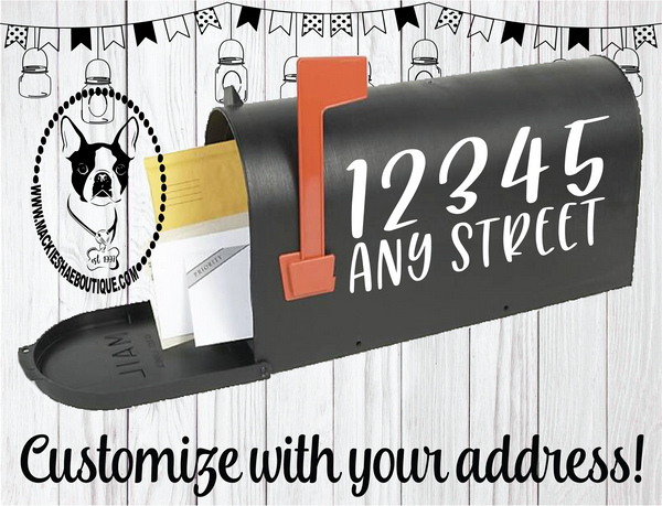 Mailbox Address Custom Decal
