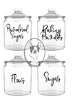 Pantry Custom Decals, Set of 4