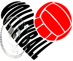 Volleyball Heart Custom Decal