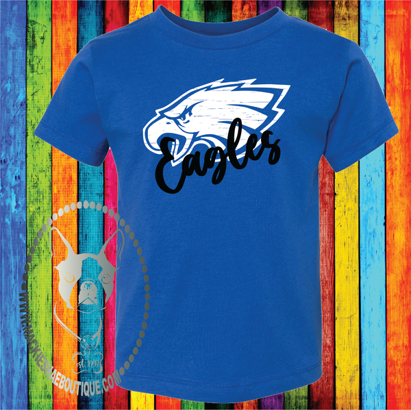 Distressed Eagles Custom Shirt for Kids, Soft Short Sleeve