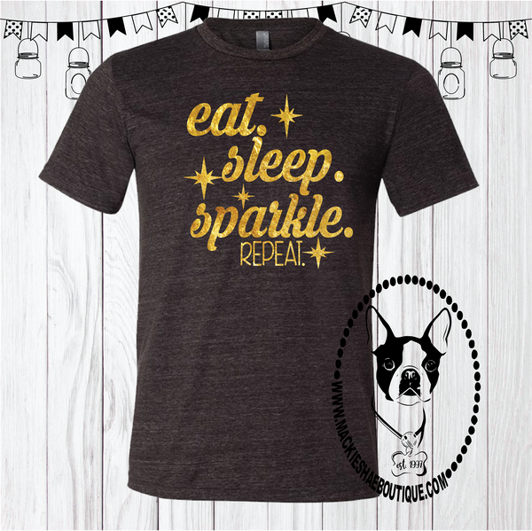 Eat Sleep Sparkle Repeat Custom Shirt for Kids, Soft Short Sleeve