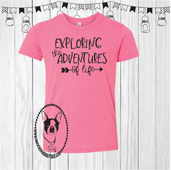 Exploring the Adventures of Life Custom Shirt for Kids, Short Sleeve