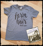 Farm Hair... Don't Care Custom Shirt for Kids, Short-Sleeve