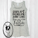 Shiplap Magnolia Joanna Gaines... These are a Few of My Favorite Things Custom Shirt, Razerback Tank