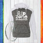 Flip Zone Fun Gymnastics Custom Shirt, Women's Colorblock Fleece Hooded Pullover