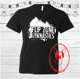 Flip Zone Gymnastics Custom Shirt for Kids, Short Sleeve