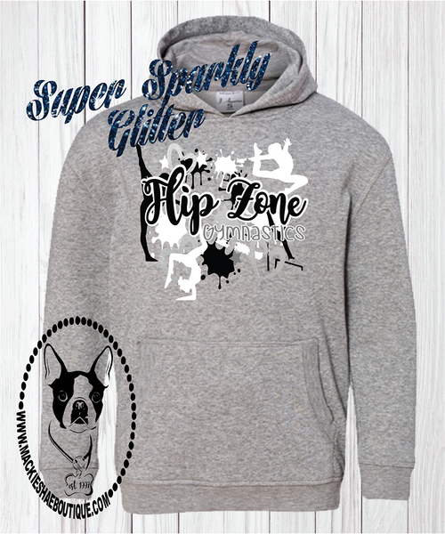 Flip Zone Team Custom Shirt,  Glitter Hoodie