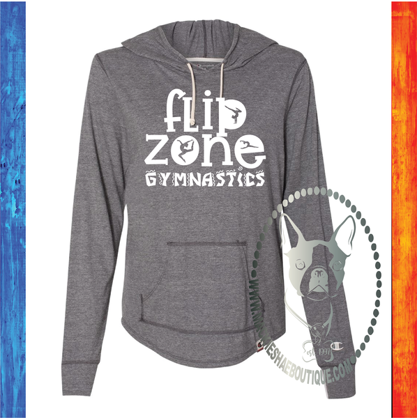 Flip Zone Fun Gymnastics Custom Shirt, Champion Hooded Pullover