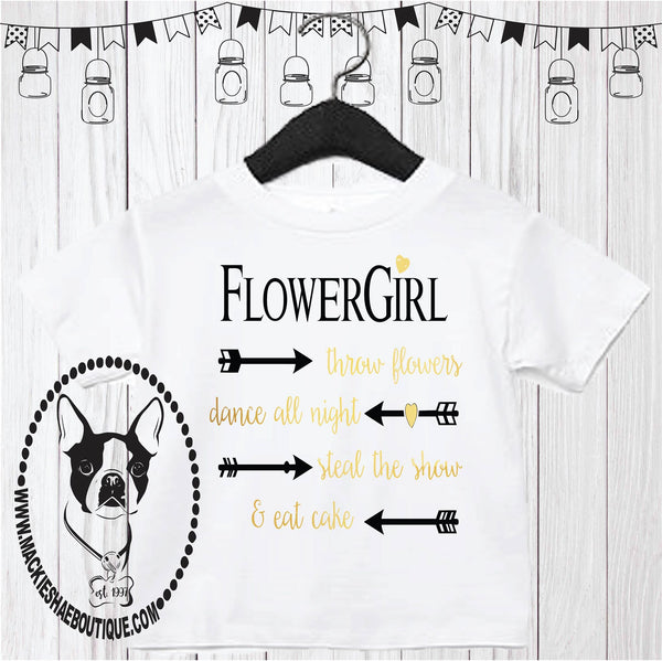 Flower Girl... Arrow Custom Shirt for Kids, Short Sleeve
