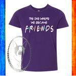 The One Where We Became Friends Custom Shirt for Kids, Soft Short Sleeve