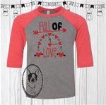 Full of Love Custom Shirt for Kids, 3/4 Sleeve