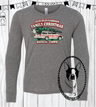 Fun Old Fashion Family Christmas Custom Shirt for Kids, Soft Long Sleeve Tee