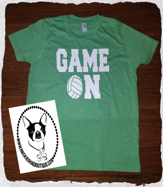 Game On Volleyball (get any ball) Custom Shirt for Kids, Short Sleeve
