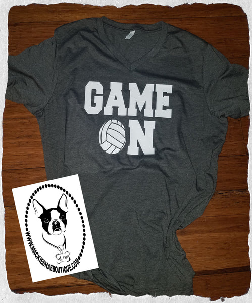 Game On Volleyball (get any ball) Custom Shirt, Short Sleeve