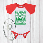 Go Jesus It's Your Birthday Stable Sweater Custom Shirt for Kids, Baby One Piece
