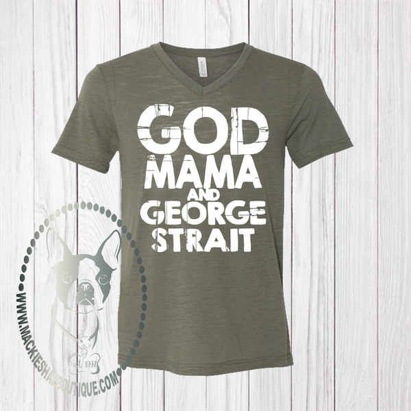 God Mama and George Straight Custom Shirt, Soft Short Sleeve
