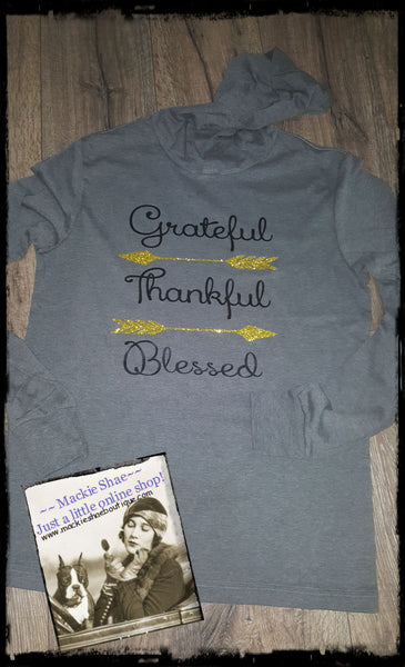 Grateful Thankful Blessed Arrow Custom Shirt, Light Weight Hoodie