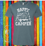 Happy Camper Custom Shirt, Soft Short Sleeve