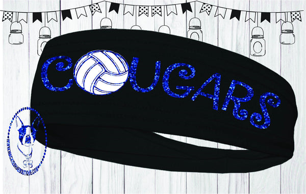 Cougars Volleyball Custom Headband