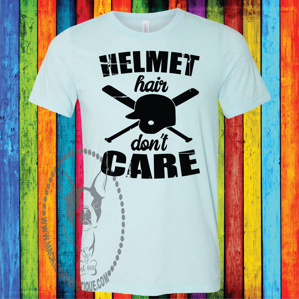 Helmet Hair Don't Care Custom Shirt, Short Sleeve