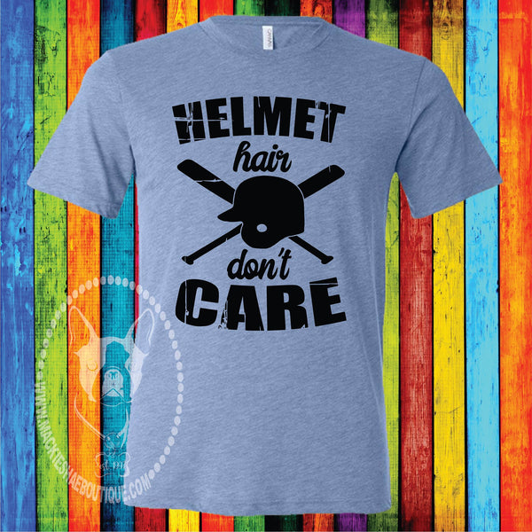 Helmet Hair Don't Care Custom Shirt for Kids, Short Sleeve