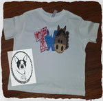 Horse Birthday Custom Shirt for Kids, Short Sleeve