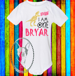 Rawr! I am One Dinosaur Birthday Custom Shirt for Kids, Soft One Piece
