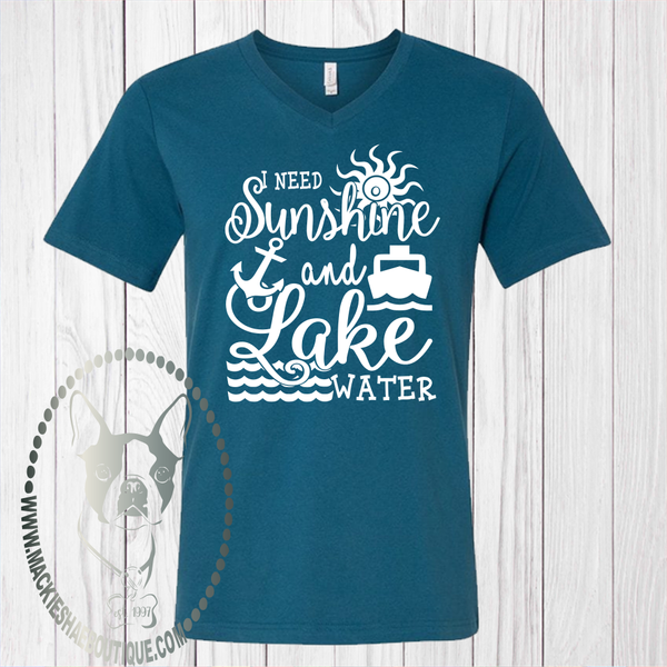 I Need Sunshine and Lake Water Custom Shirt, Soft Short Sleeve