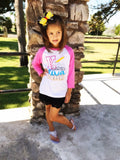 Kindergarten Diva Ruler Custom Shirt for Kids, 3/4 Sleeve