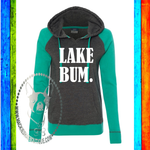 Lake Bum Custom Shirt, Women's Raglan Hooded Sweatshirt