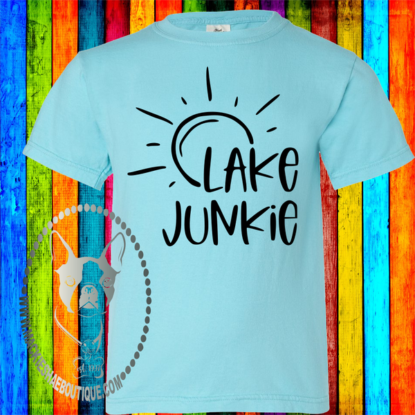 Lake Junkie Custom Shirt for Kids, Short Sleeve