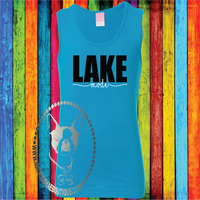 Lake Mode Custom Shirt for Kids, Girls' Fine Jersey Tank Top