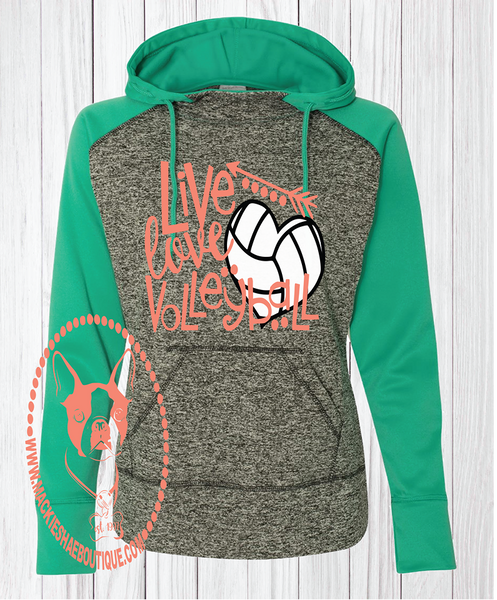 Live Love Volleyball Custom Shirt, Hooded Pullover Sweatshirt