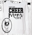 Livin That Cheer Mom Life Custom Shirt, Women's Wideneck Sweater