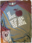 Love with Apple Custom Shirt, 3/4 Sleeve