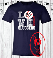 Love Sluggers Baseball Custom Shirt, Short Sleeve