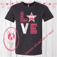 Love Cheer {Personalized for your Team} Custom Shirt, Short Sleeve