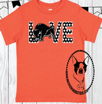 Love Polka Dot Bison Custom Shirt for Kids, Short Sleeve