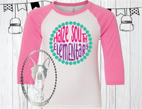 Maize South Elementary Fun Circle Custom Shirt for Kids, Soft 3/4 Sleeve