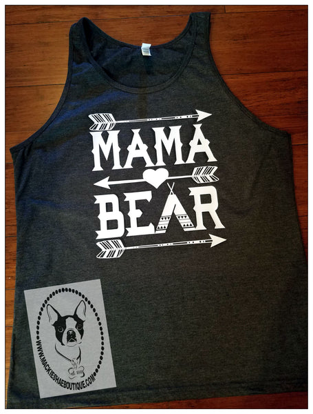 Mama Bear With Heart and Arrows Custom Shirt, Tank