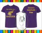 My Bubby is A Baller Basketball Custom Shirt for Kids, Short Sleeve