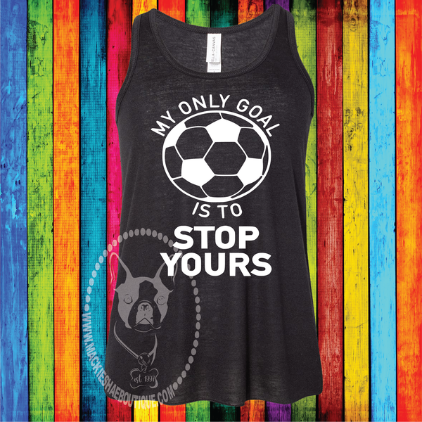 My Only Goal is to Stop Yours Soccer Custom Shirt for Kids, Racerback Tank