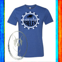 Ness City Eagles Circle Custom Shirt, Soft Short Sleeve