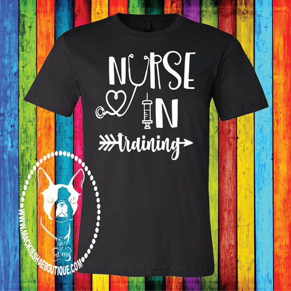 Nurse in Training Custom Shirt, Short Sleeve