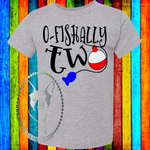 O-Fishally Two (Get Any Number) Custom Shirt for Kids, Short Sleeve