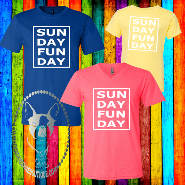 Pathway Sunday Funday Soft Tee, V-Neck Adult